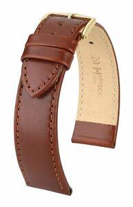 Hirsch Osiris 12 mm mid brown watch strap, length M