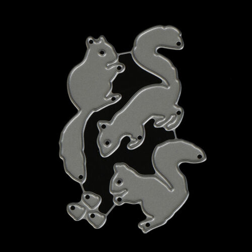 Christmas Squirrel nuts Set Cutting Dies For Scrapbooking Card Craft Decor UP