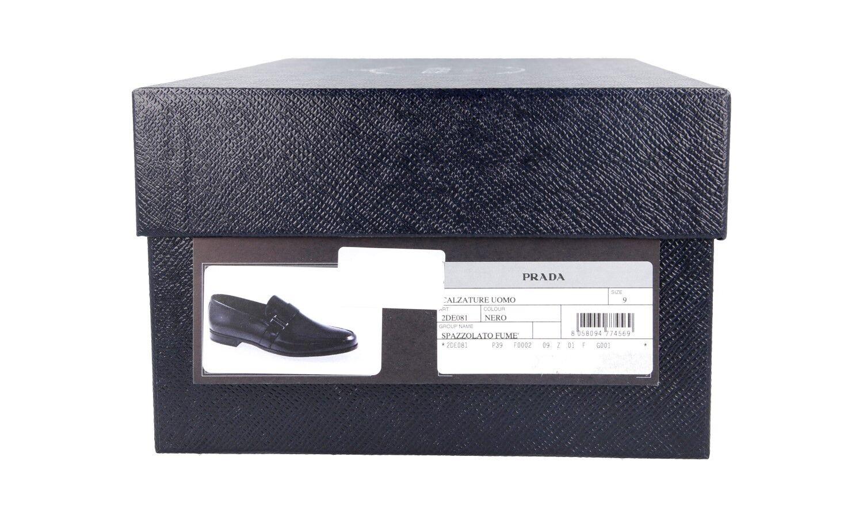 Luxe Prada Business Business Business Chaussures 2de081 Noir Neuf New 9 43 43,5 | Bonne Conception Qualité  b27c7d