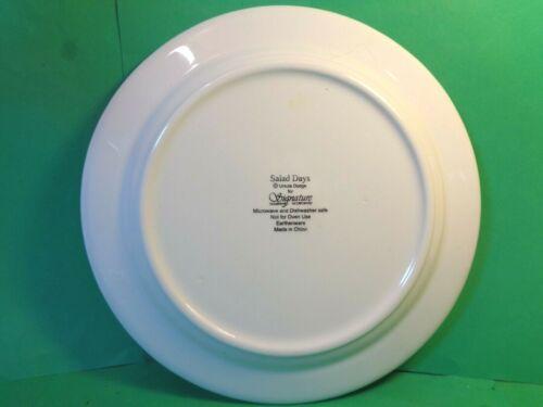 "Used//EUC Salad Days 9 1//8/"" Dinner Plate Ursula Dodge Design Signature Houseware"
