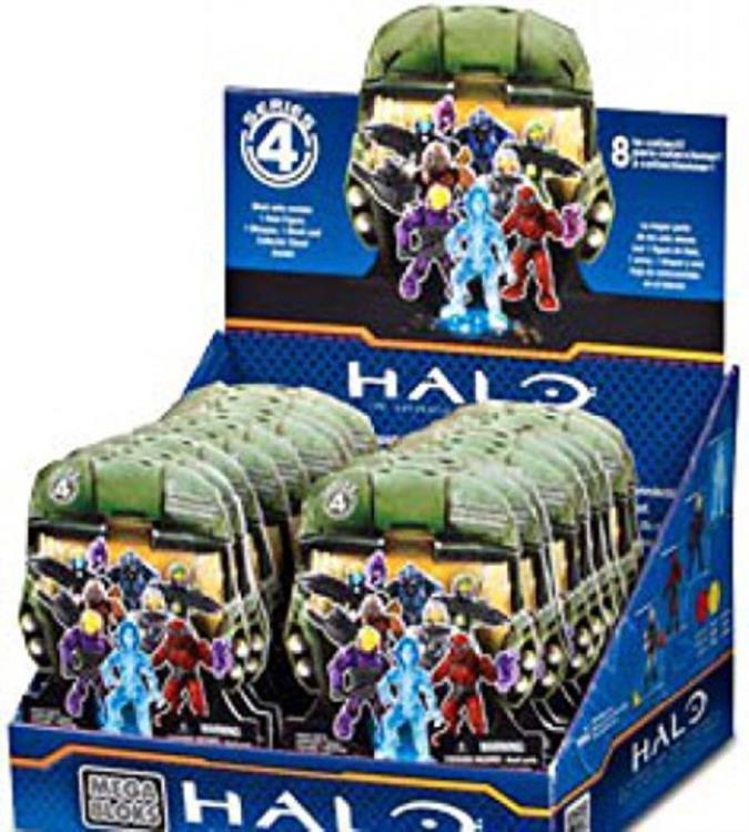 Mega Bloks Halo Serie 4 Sammelfigur 24er Display - 24x Blindpack 96978