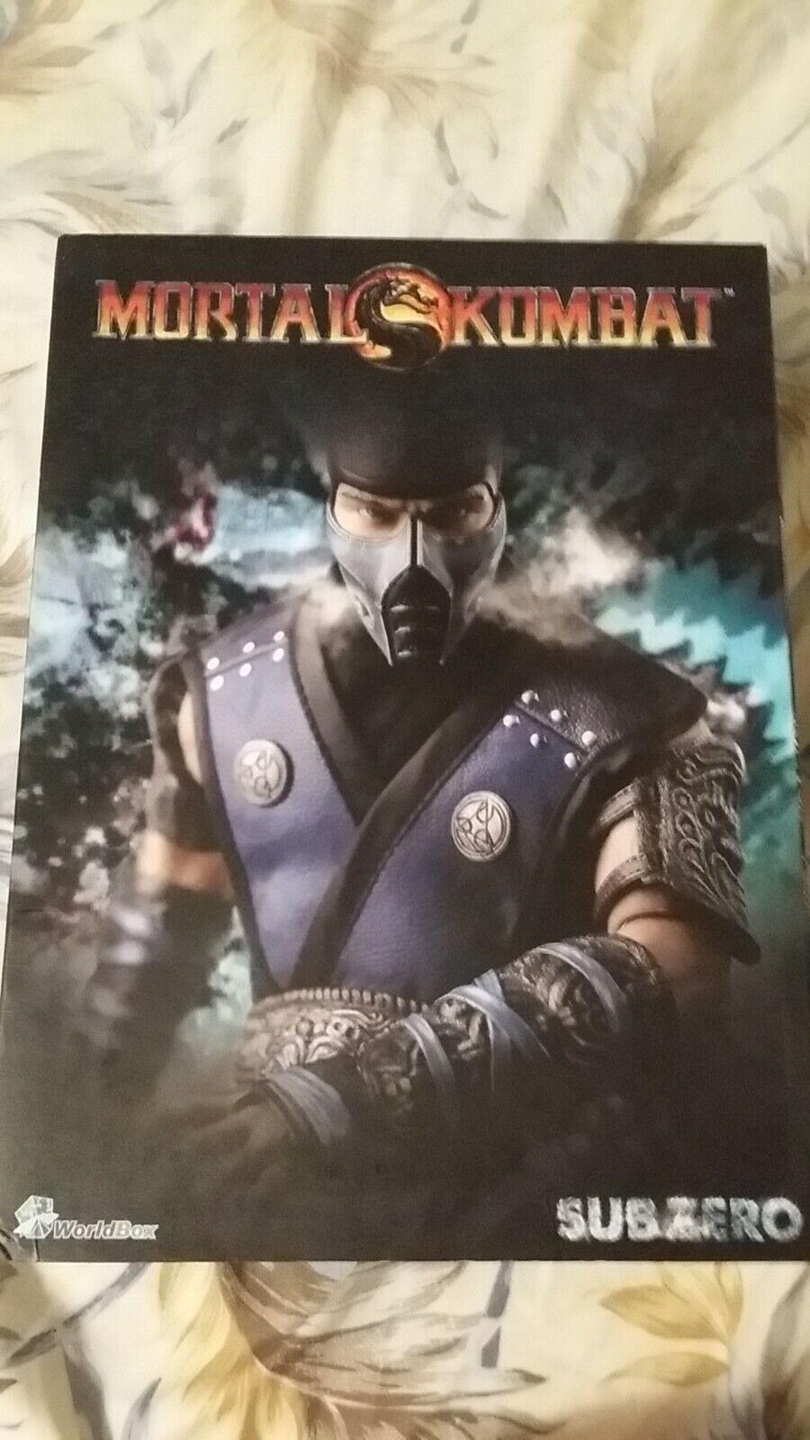 New 1 6 World Box Mortal Kombat Sub Zero Figure hot toys IN STOCK Aus Seller