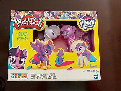 Play Doh My Little Pony Princess Twilight Sparkle And Rarity Ponies Toys New Ebay