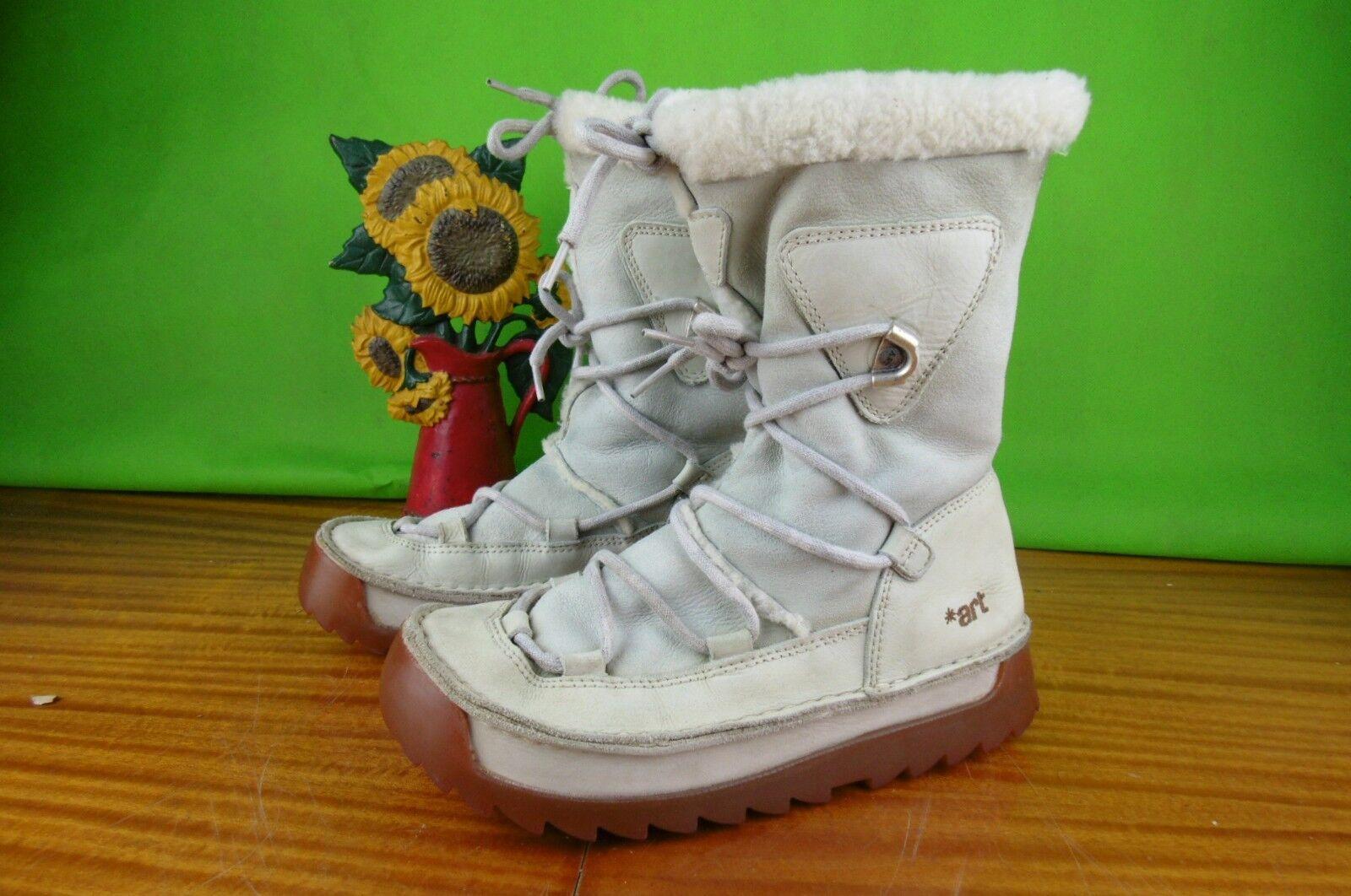 damen Weiß CREAM ART Stiefel Größe 40  UK 7
