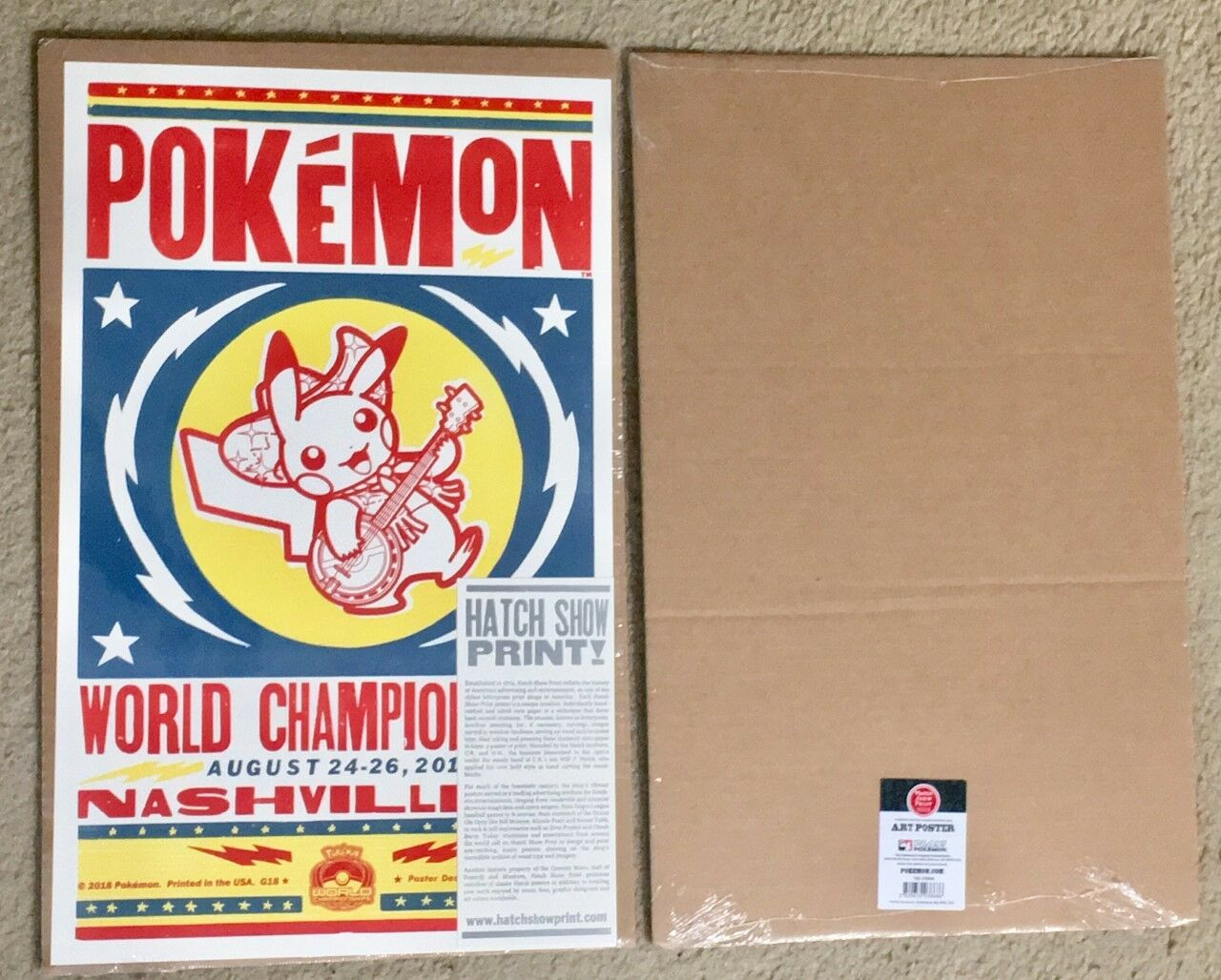 Pokemon Worlds 2018 Nashville Tennessee Hatch Show Print Poster Poster Poster 1 in 500 -SEALED f35982