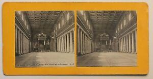 Roma Basilique Sainte Maria Major Italia Foto Stereo p2n24 Vintage Analogica