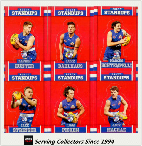 2017 Select AFL Footy Stars Trading Cards Footy Standups Team Set 6BULLDOGS