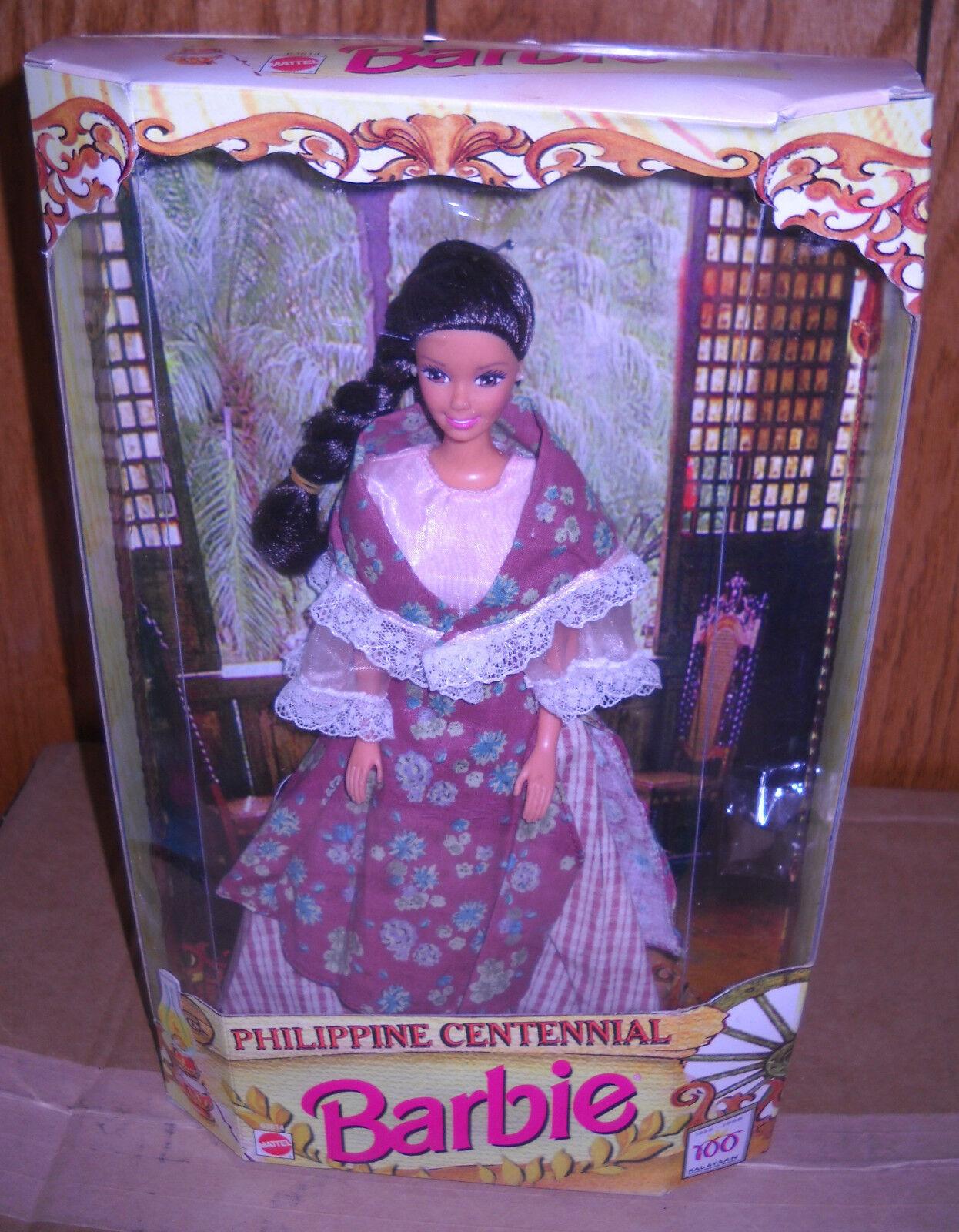 En Caja Original Mattel problema de Exteriores filipino Centenario Barbie