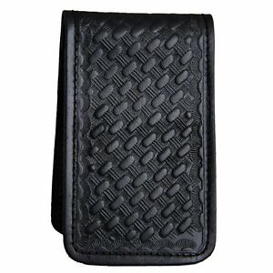 POLICE-SECURITY-PRIVATE-EYE-LEATHER-MEMO-BOOK-NOTE-PAD-HOLDER-CASE-BASKETWEAVE