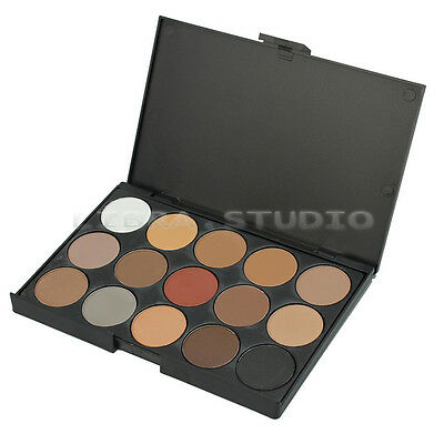 Professional 15 Colors Warm Nude Matte Shimmer Eyeshadow Palette Makeup Cosmetic