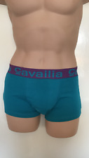 """MENS BOYS CAVAILIA HIPSTER STRETCH BOXERS TURQUOISE UNDERWEAR LARGE 32""""-34"""""""