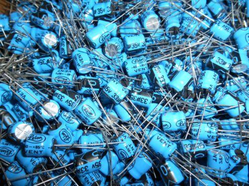10 x  33uf  35v 85 Deg Radial Electrolytic  Capacitor    FAST SHIPPING