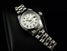 Croton Women's 'Famous Look' Genuine Diamonds Marker Automatic SS Watch-RARE