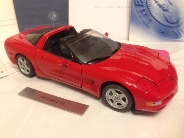 1 24 FRANKLIN Comme neuf 1997 CORVETTE COUPE Rouge B11WW95