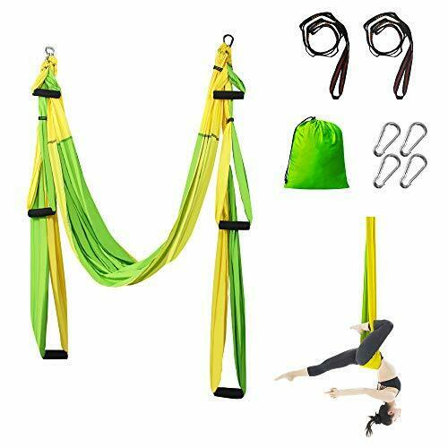 Aerial Yoga Hammock Trapeze Swing With 2 Extension Straps And Suspension Ceiling For Sale Online Ebay