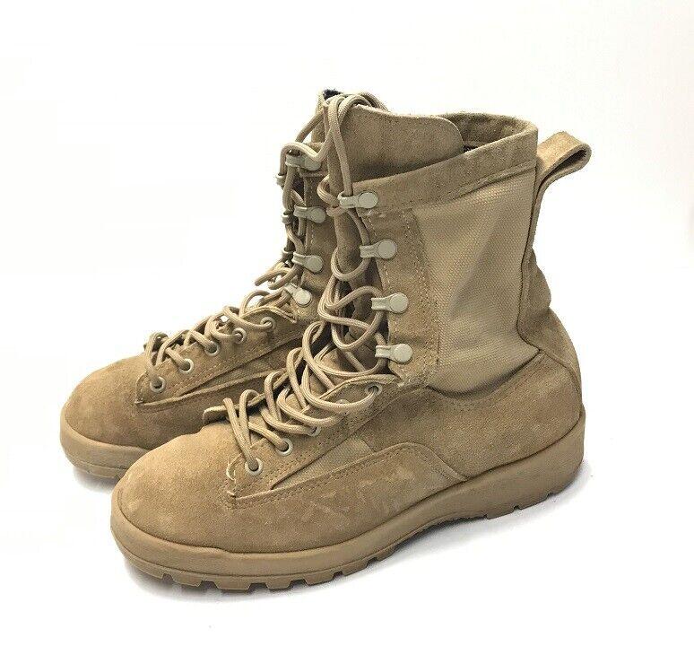 Us Army mcrea Al aire libre botas botas Goretex barco tan 7.5w talla 40