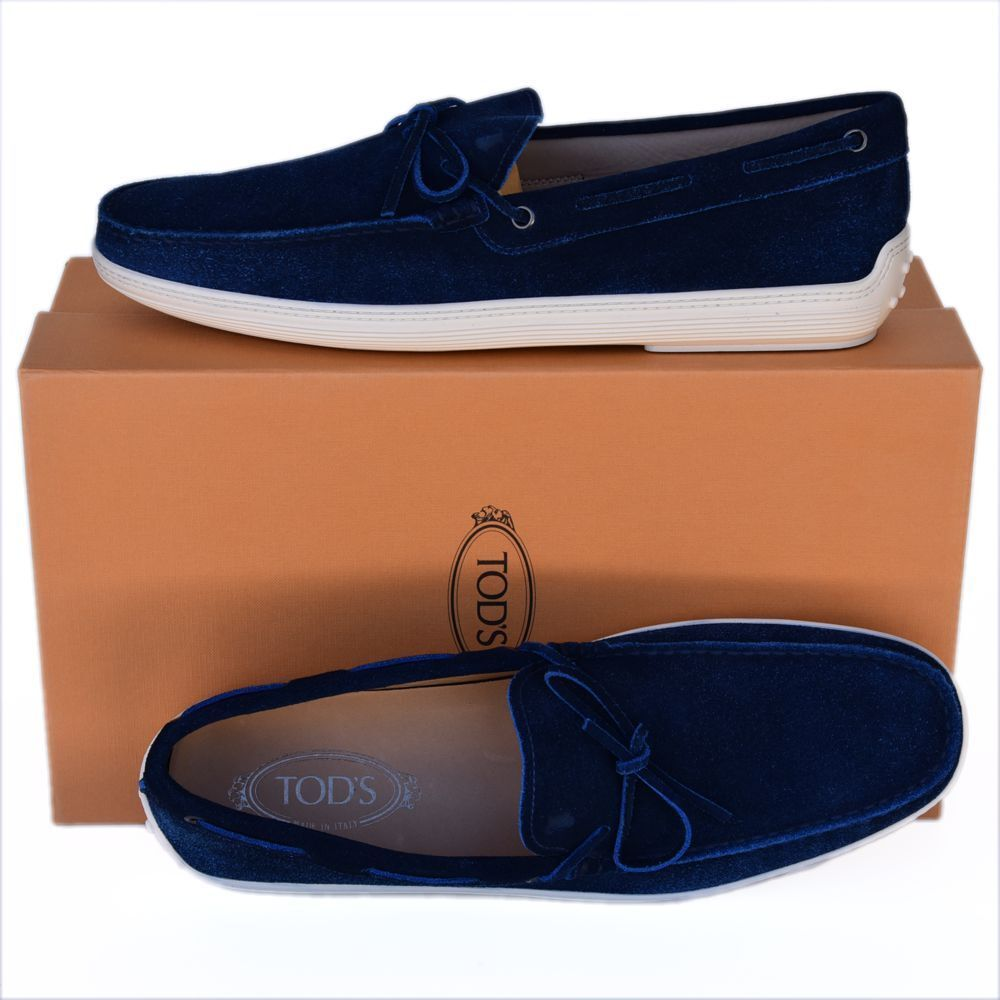 TOD'S Tods New sz US 12 Authentic Designer Mens Loafers scarpe royal blu
