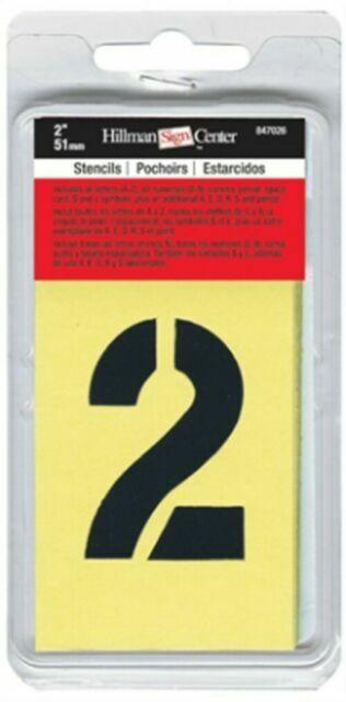 "New Hillman Alphabet Stencils 2/"" 51mm Painting Lettering Sign Making Set"