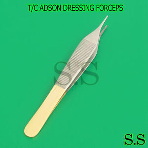T.C TC TUNGSTEN CARBIDE ADSON NON TOOTHED SERRATED TISSUE FORCEPS TWEEZERS 12cm