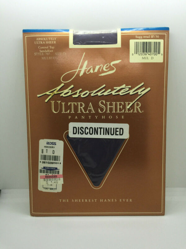 Hanes Absolutely Ultra Sheer Ctrltop Sandalfoot Pantyhose Mulberry Size D