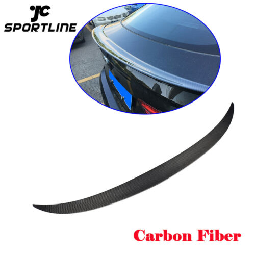 Rear Trunk Spoiler Lid Wing For BMW X6 F16 15-16 Carbon Fiber Factory Refit