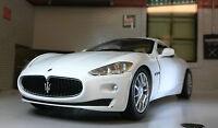 G LGB 1:24 Scale Maserati Gran Turismo White Motormax Diecast Model Car 73361