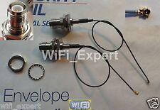 """2 8"""" Mini PCI U.FL / IPX to RP-TNC Antenna WiFi Pigtail Cable Connector USA"""
