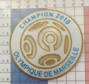 France-Patch-Badge-blanc-Ligue-1-maillot-de-foot-de-L-039-OM-Champion-2010-10-11