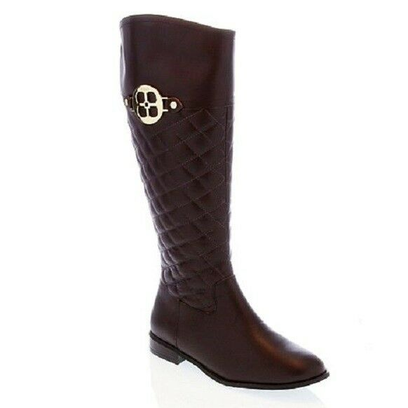 30cf6405a7431  199.95 NEW Platinum IMAN Platinum 27800 Leather Riding Boot Boot Chocolate  Brown Sz 6.5 5001e7a