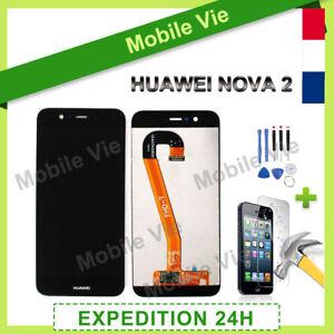 """VITRE TACTILE + ECRAN LCD PRET-A-MONTER POUR HUAWEI NOVA 2 NOIR 5.0"""" + COLLE"""
