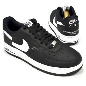 Details about NWT Supreme Comme des Garcons Nike Air Force 1 CDG Black Split Logo 9 AUTHENTIC