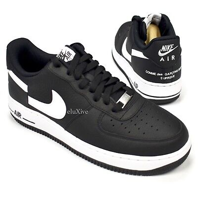 detailed pictures 00a12 2ce35 NWT Supreme Comme des Garcons Nike Air Force 1 CDG Black Split Logo 9  AUTHENTIC | eBay