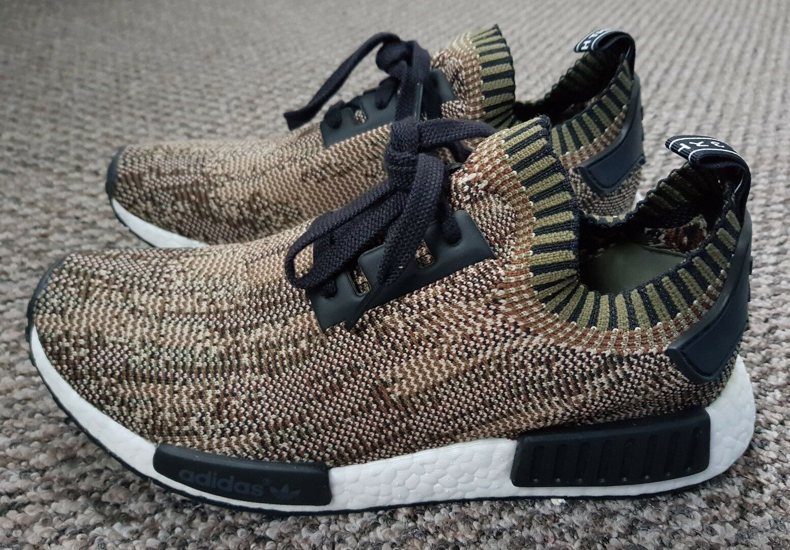Adidas Originals NMD Camo Glitch trainers size 9 olive green