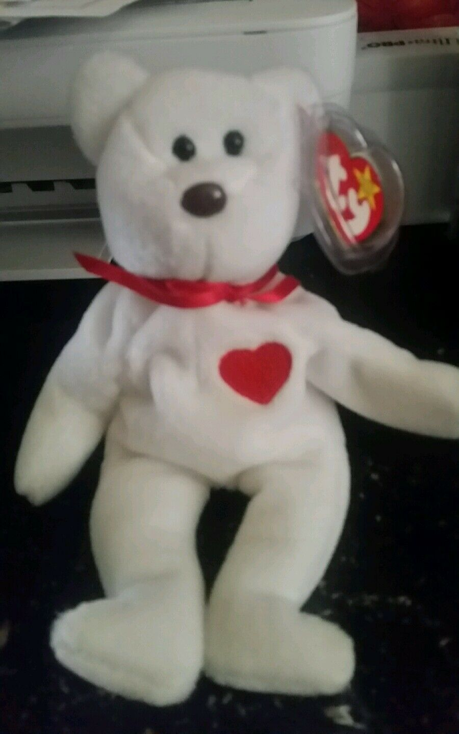 Rare Valentino ty beanie baby misspelled swing tag
