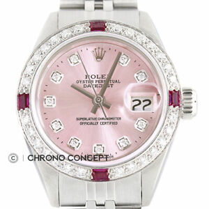 Rolex-Ladies-Datejust-Pink-Diamond-Dial-18K-White-Gold-amp-Stainless-Steel-Watch