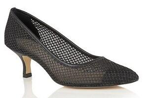 Lotus-Negro-Brillo-floramaria-Malla-Tribunal-Zapatos-UK-4-5-EU-37-5-LN03-67