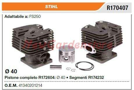 Cilindro pistone segmenti STIHL motosega FS250 R170407
