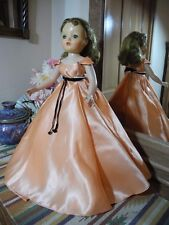 """20"""" Madame Alexander """"No Neck"""" Blonde Cissy Doll TAGGED Godey Coat Apricot Gown"""