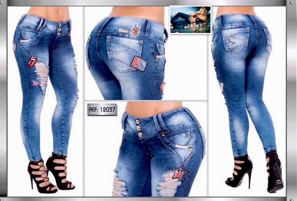 Exclusive Colombian Butt Lift  Jeans Sizes  3 4,5 6 USA