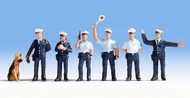 Figuras Noch H0 H0 H0 (15091)  Agentes de la Policía, Azul Uniforme  conveniente