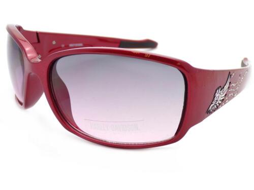 Harley Davidson lunettes de soleil de femmes rouge strass//gris dégradé HDS8001 RD-50