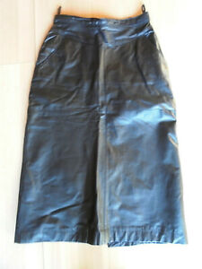 FäHig Damen Echt Lederrock Von Miss Astor,gr.34,schwarz Kleidung & Accessoires Damenmode