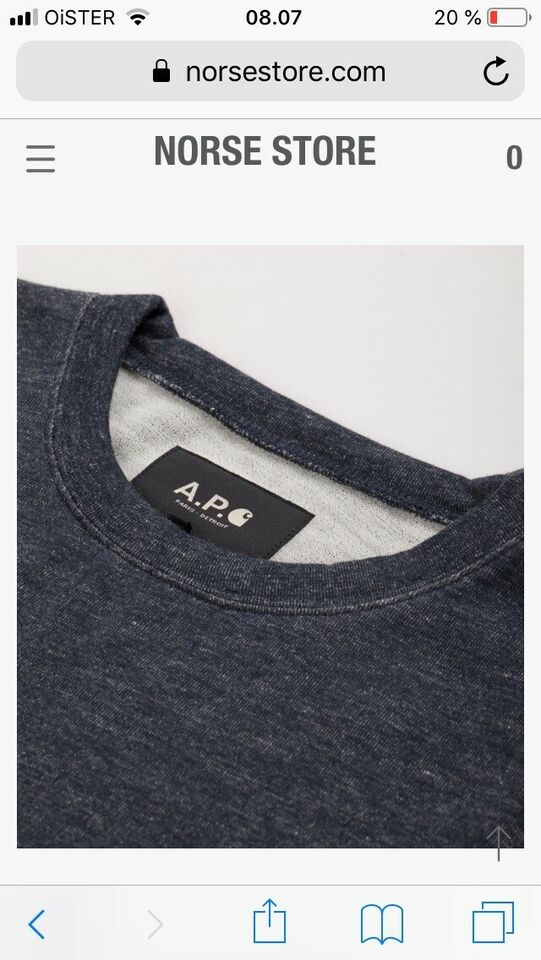 Sweatshirt, A.P.C & Carhartt , str. S