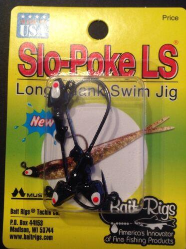 Slo-Poke LS Long Shank Swim Jig 1//8oz Black XP-800