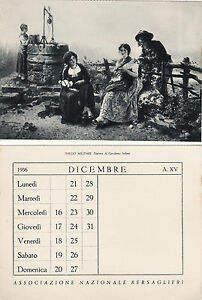 Calendario 1936.Dettagli Su Bersaglieri Idillio Militare C Del Calendario 1936 E Con Omaggio