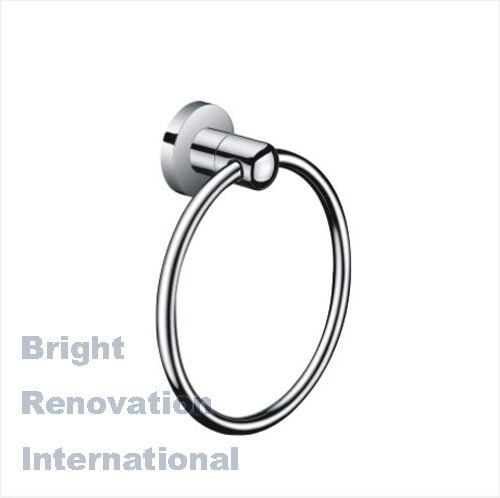 Brand New VENUS Round Bathroom Accessory Solid Brass Chrome Hand Towel Ring