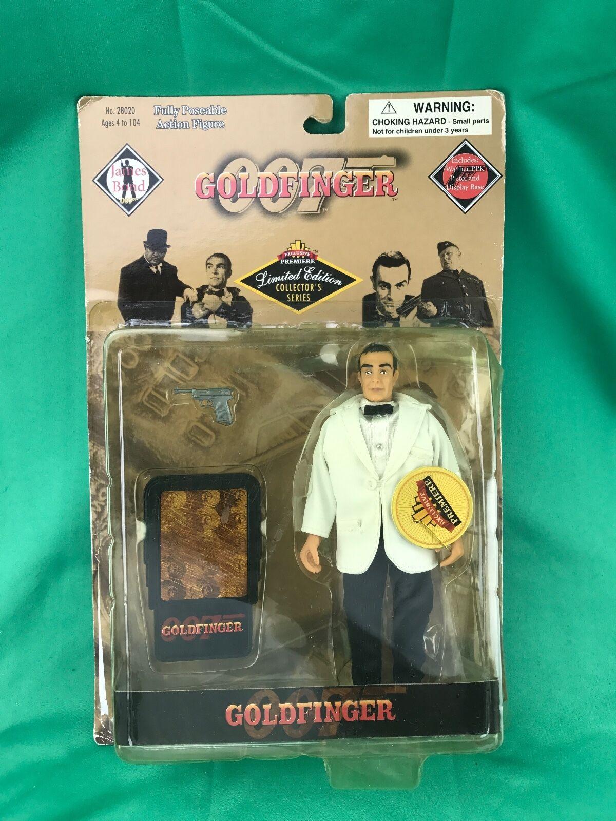 James Bond Goldfinger 007 Action figure 1998 (PACKAGE HAS WEAR)