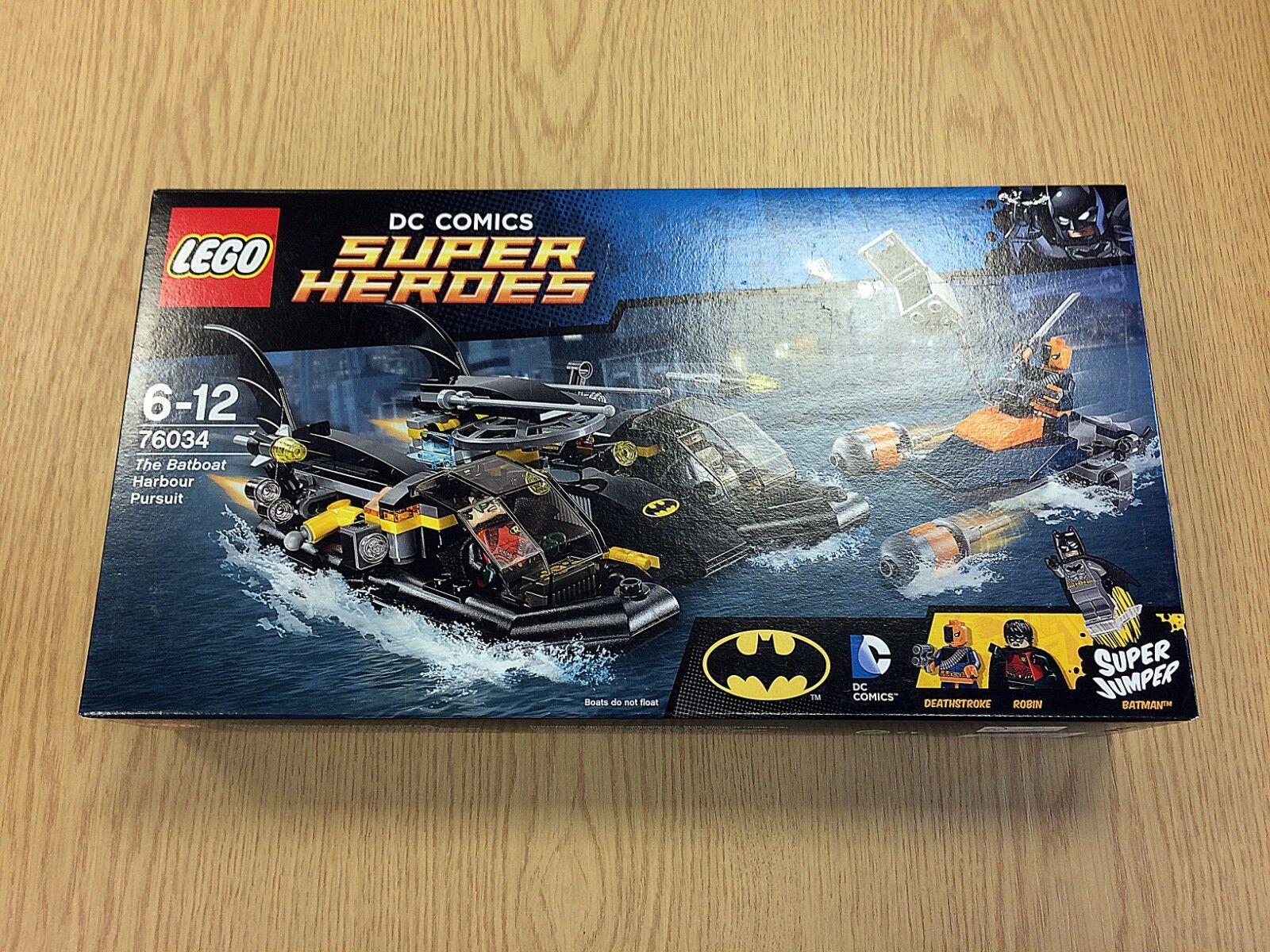 LEGO DC 76034 Batboat Harbour poursuite de 2015   Neuf, non ouvert, très bon état
