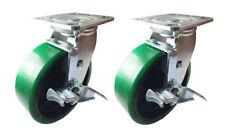2 Caster 4 5 6 8 G Polyurethane On Cast Iron Rigid Swivel Brake Total Lock