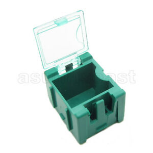 10-x-Green-Mini-Composable-Electronic-Component-Parts-Storage-Case-Box-SMT-SMD